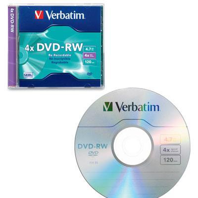 DVD RW 4.7gb 4x branded surfac