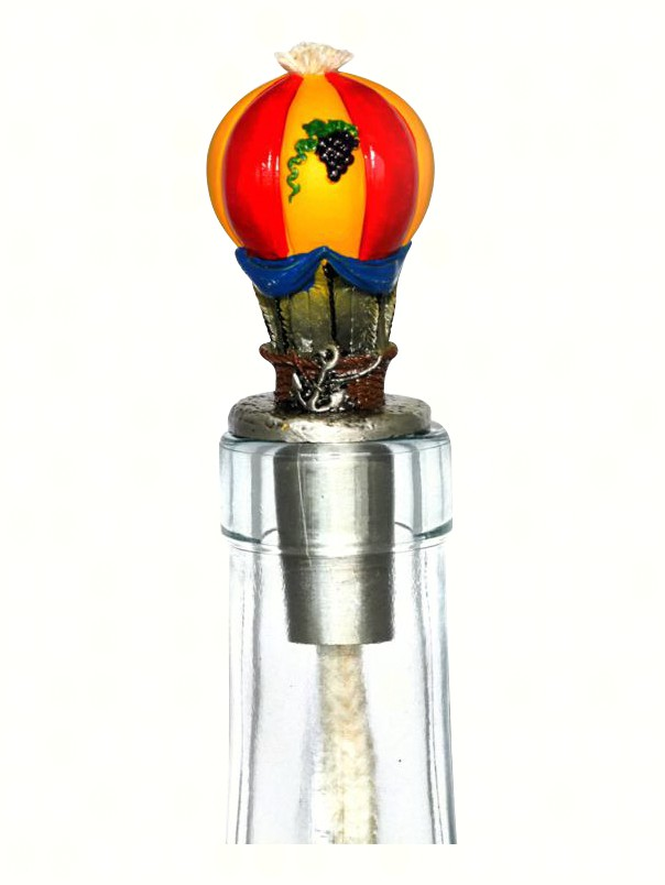 Hot Air Balloon Pewter Winelight Painted