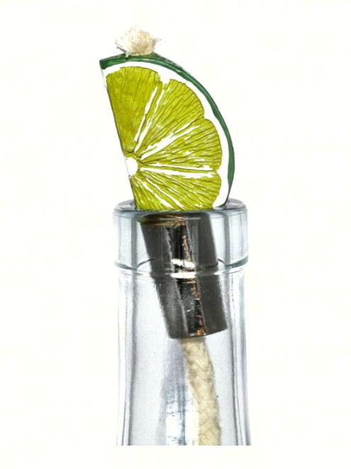 Lime Wedge Pewter Winelight Painted