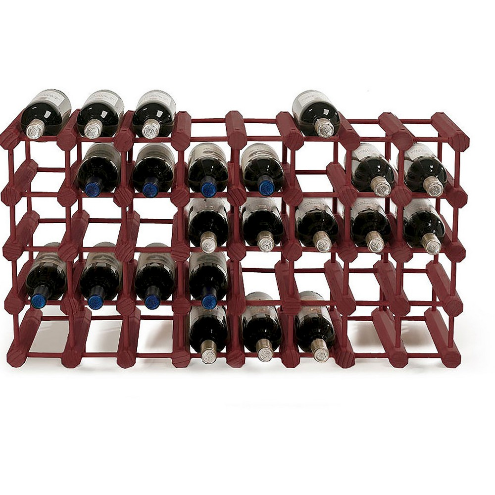 Modular 40 Bottle Pine Wine Rack (Mahogany)