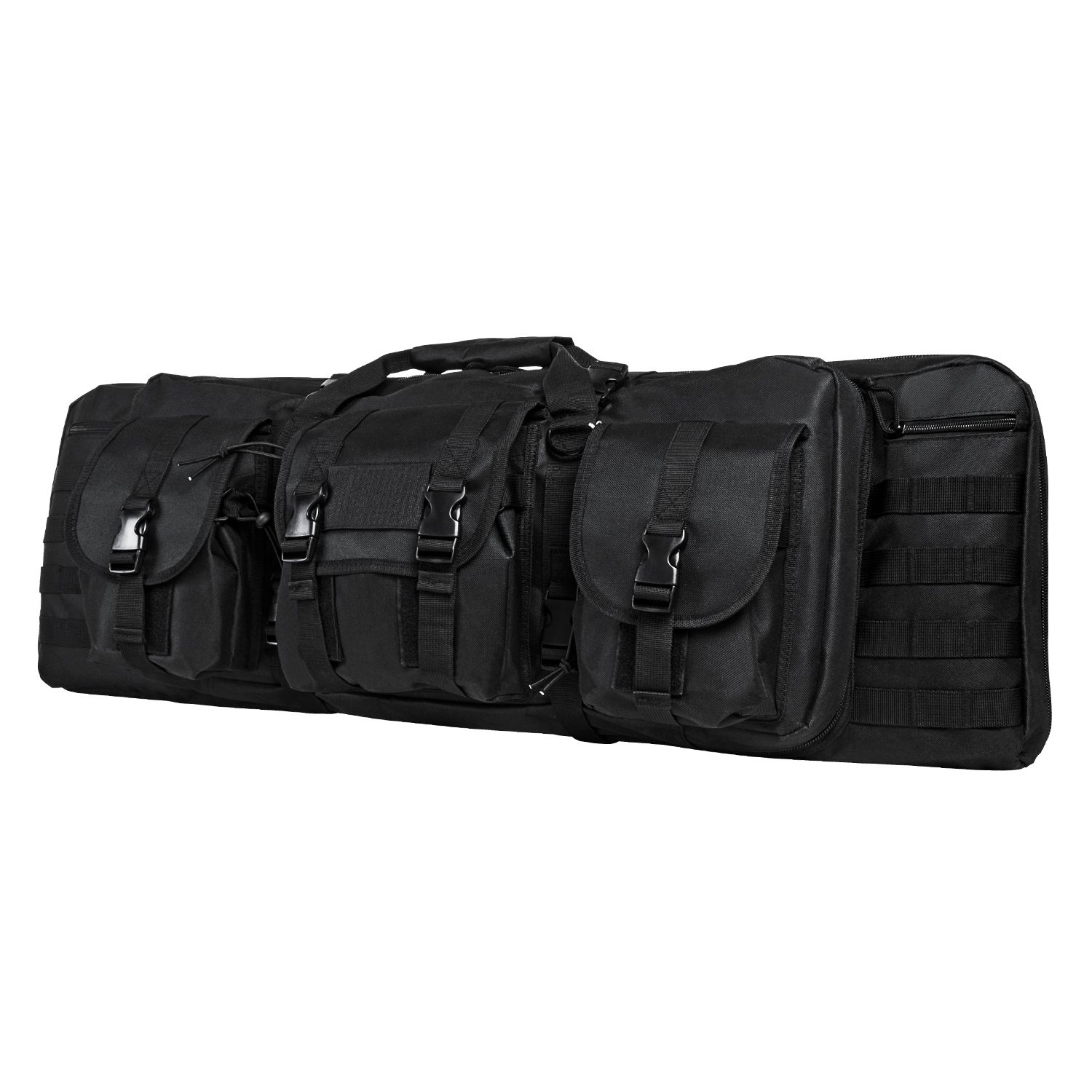 Vism Deluxe Double Rifle Case 46 inL X 13 inH-Black