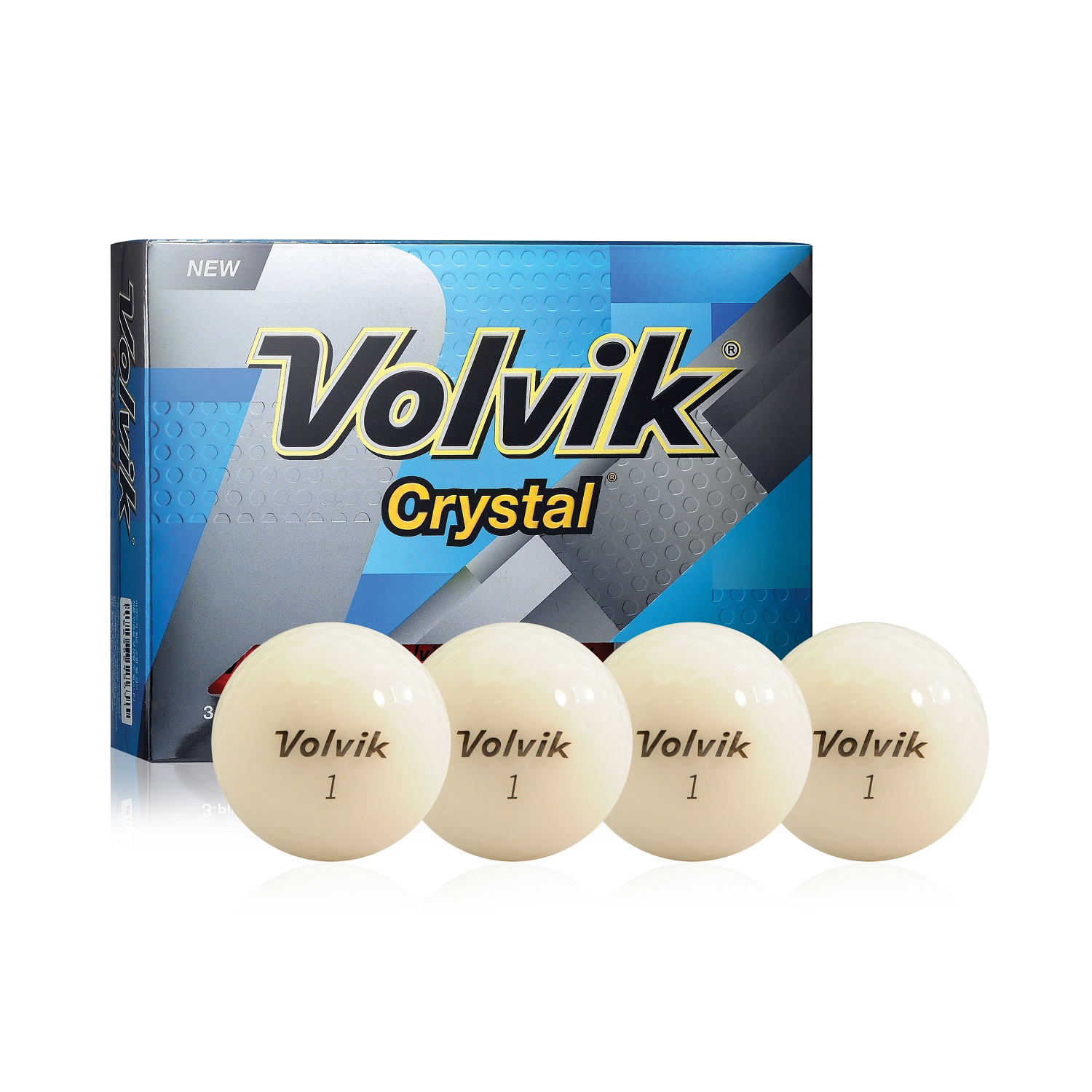 Volvik Crystal 3 Pc Golf Balls (White)