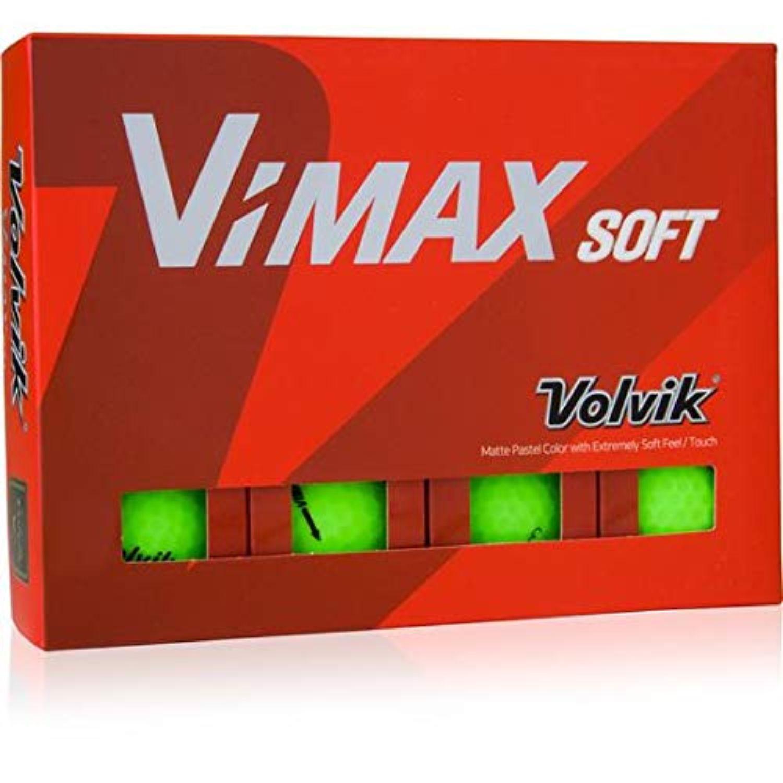 Volvik Vimax Golf Balls Dozen - Matte Green