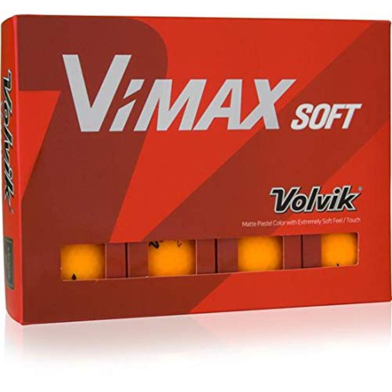 Volvik Vimax Golf Balls Dozen - Matte Orange