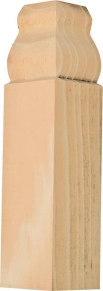 Waddell IBTB52 Inside Base Corner, 1-1/8 in W x 6-1/2 in L 1-1/8 in T, Pine Wood