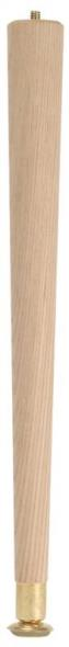 Waddell 2508 Round Taper Table Leg, 7/8 - 1-1/2 in Dia x 8 in H, Solid Hardwood