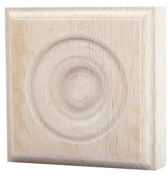 RTB-35 OAK ROSETTE TRIM BLOCK