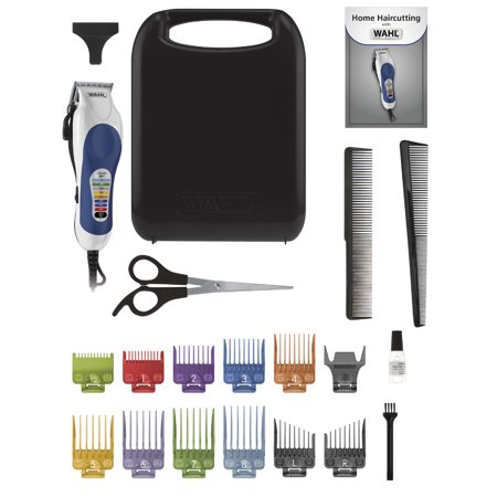 WAHL 79300 400T COLOR PRO HAIR CUTTING CLIPPER KIT 20 PC HARD