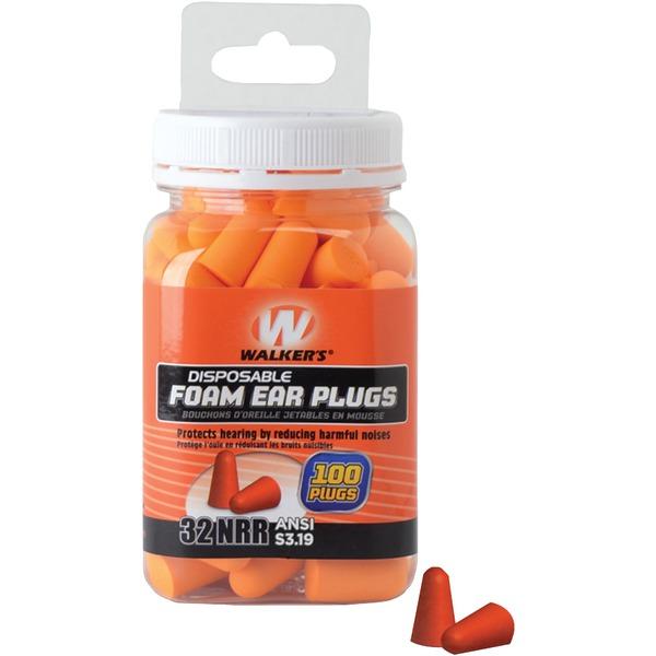 Walker's Game Ear GWP-FP-50PK Foam Ear Plugs, 100-ct Jar