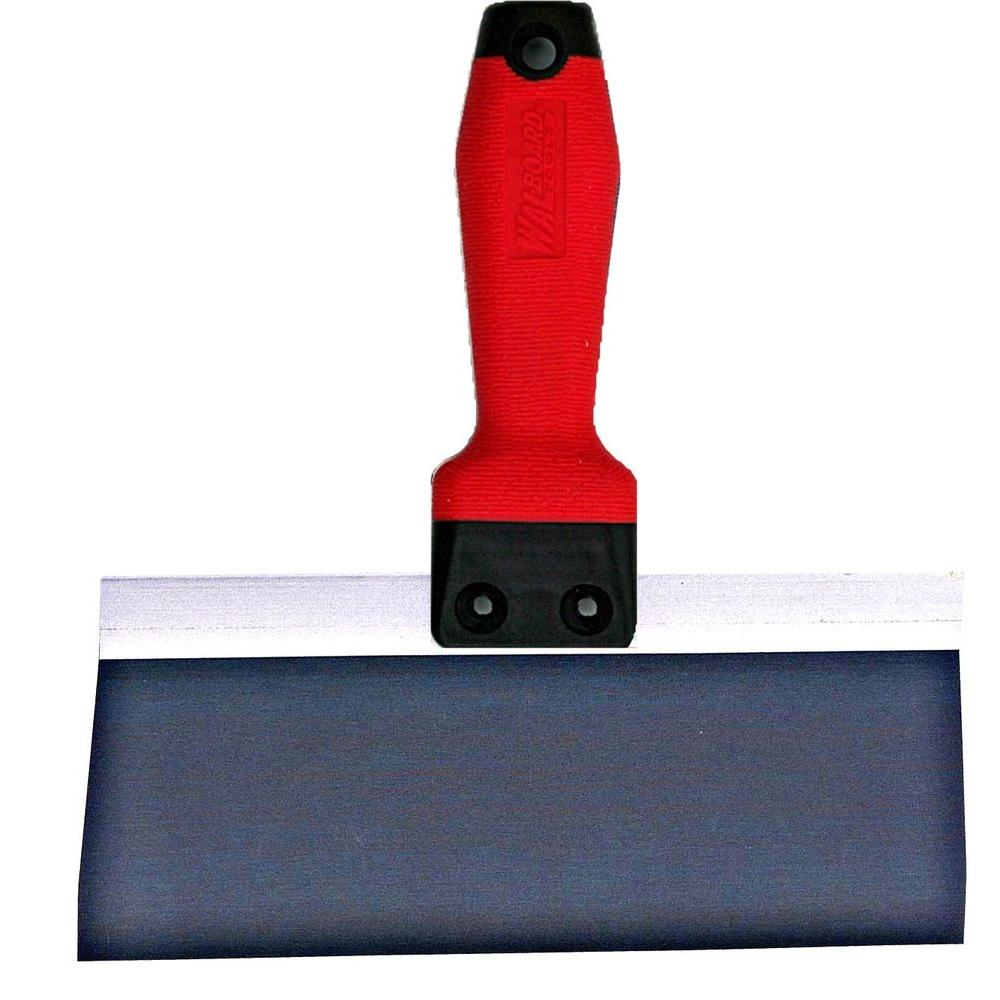 Wallboard 18-028 Taping Knife, 3 in W X 8 in L, Steel, Tuff Grip, Superior Grip Rubber