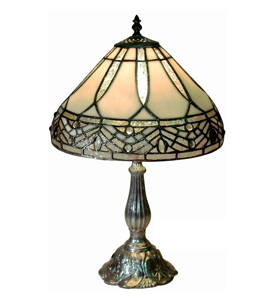 Famous Brand-Style White Jewels Table Lamp