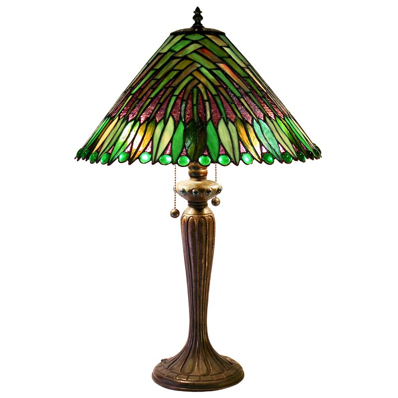 Famous Brand-Style Tropical Leaves Table Lamp