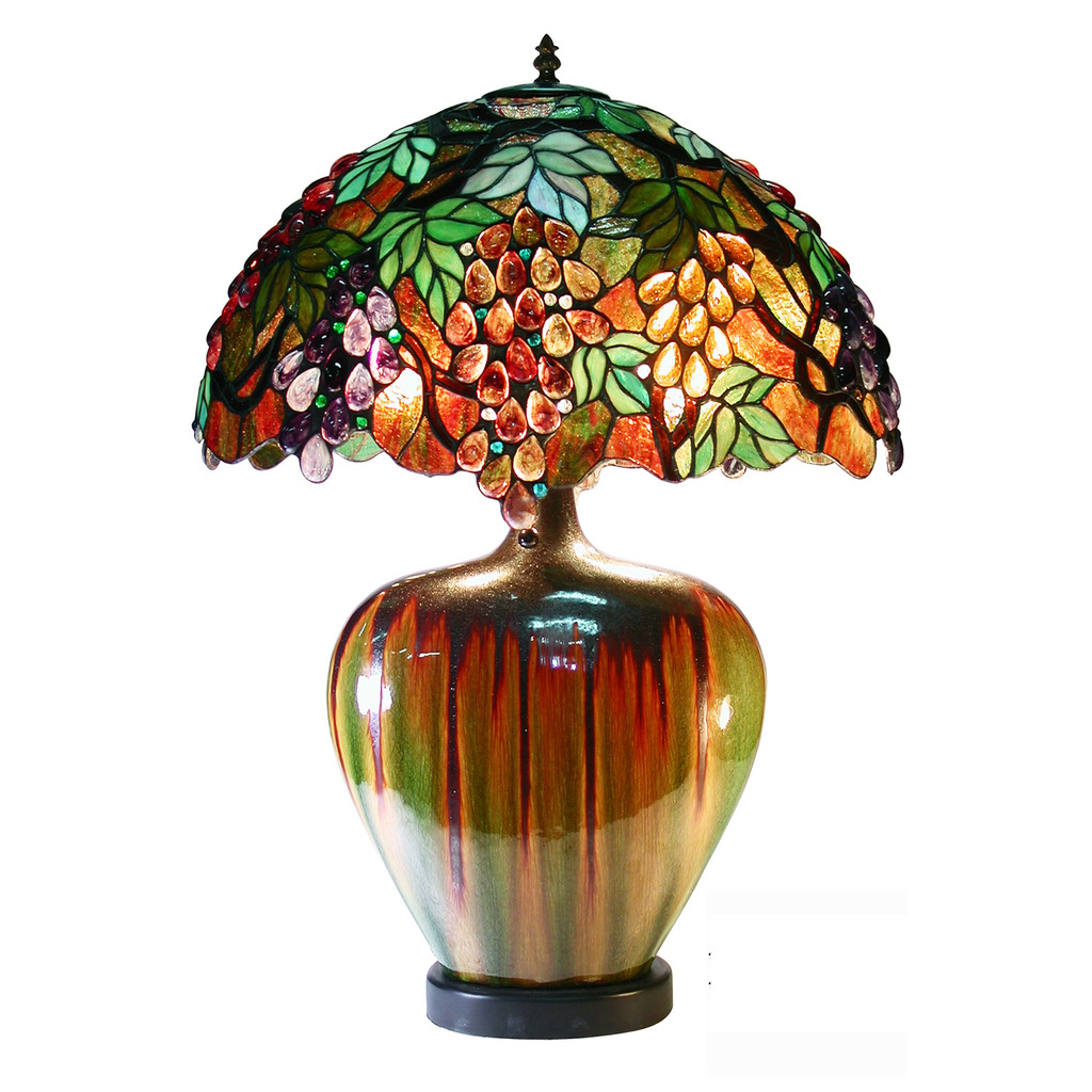 Famous Brand Style Grape Lamp With Ceramic Base