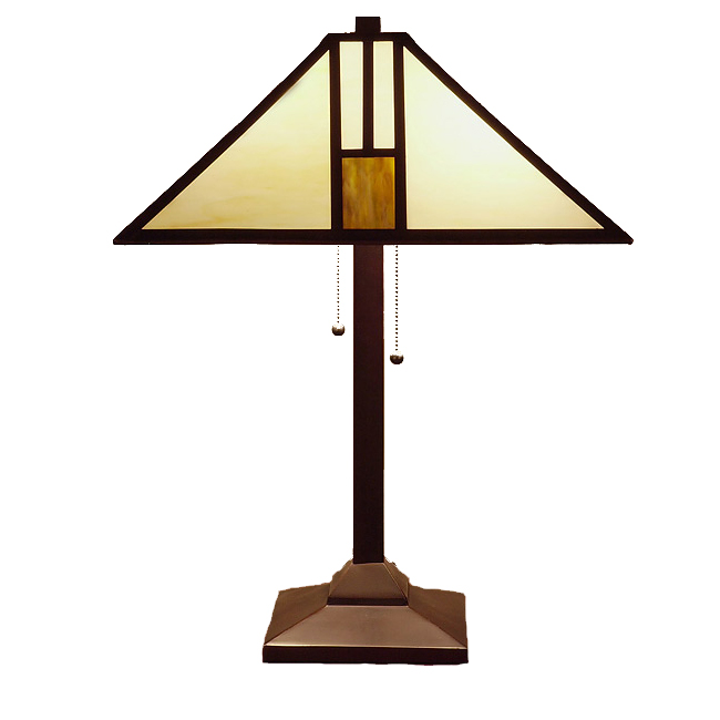 Famous Brand-Style White Mission-Style Table Lamp