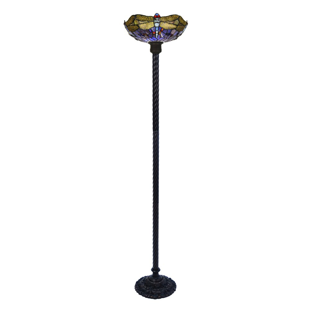 Famous Brand Style Dragonfly Torchiere Lamp