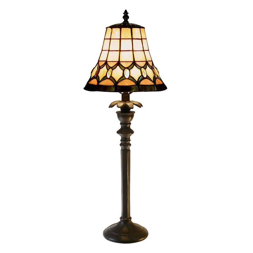 Famous Brand-Style Jeweled Table Lamp
