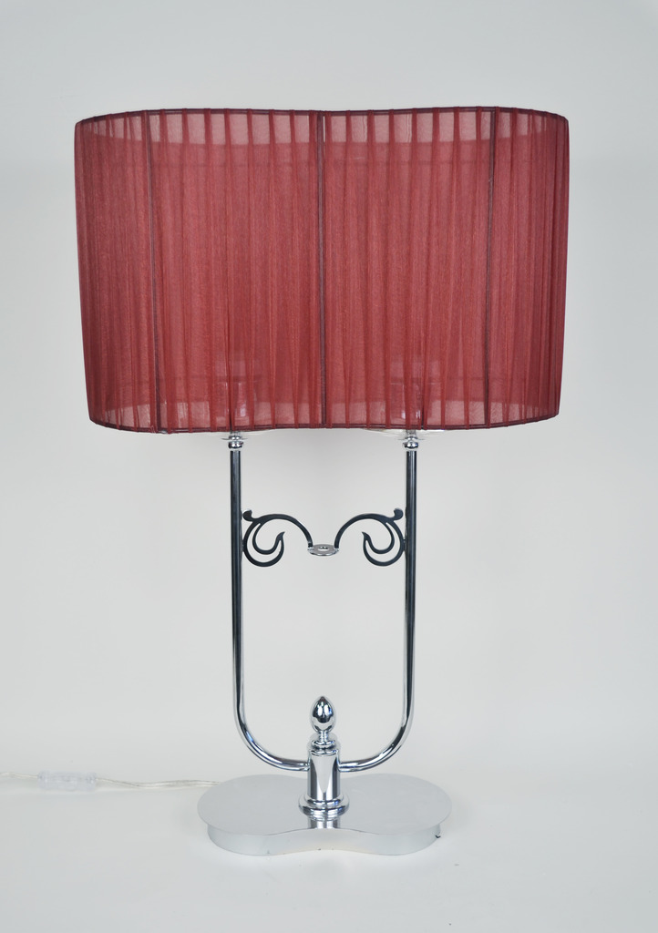 Cliona Fabric-Chrome Table Lamp