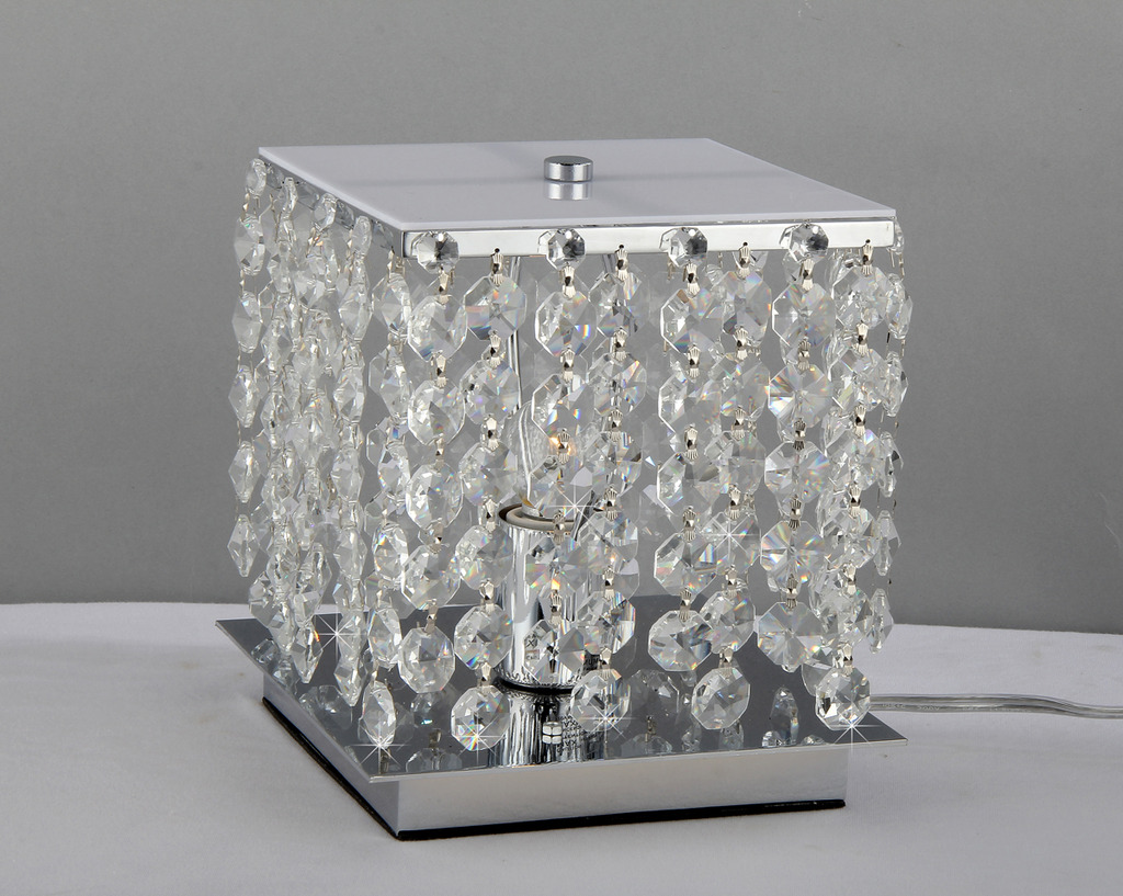 Cynthia Purple Crystal-Chrome Table Lamp