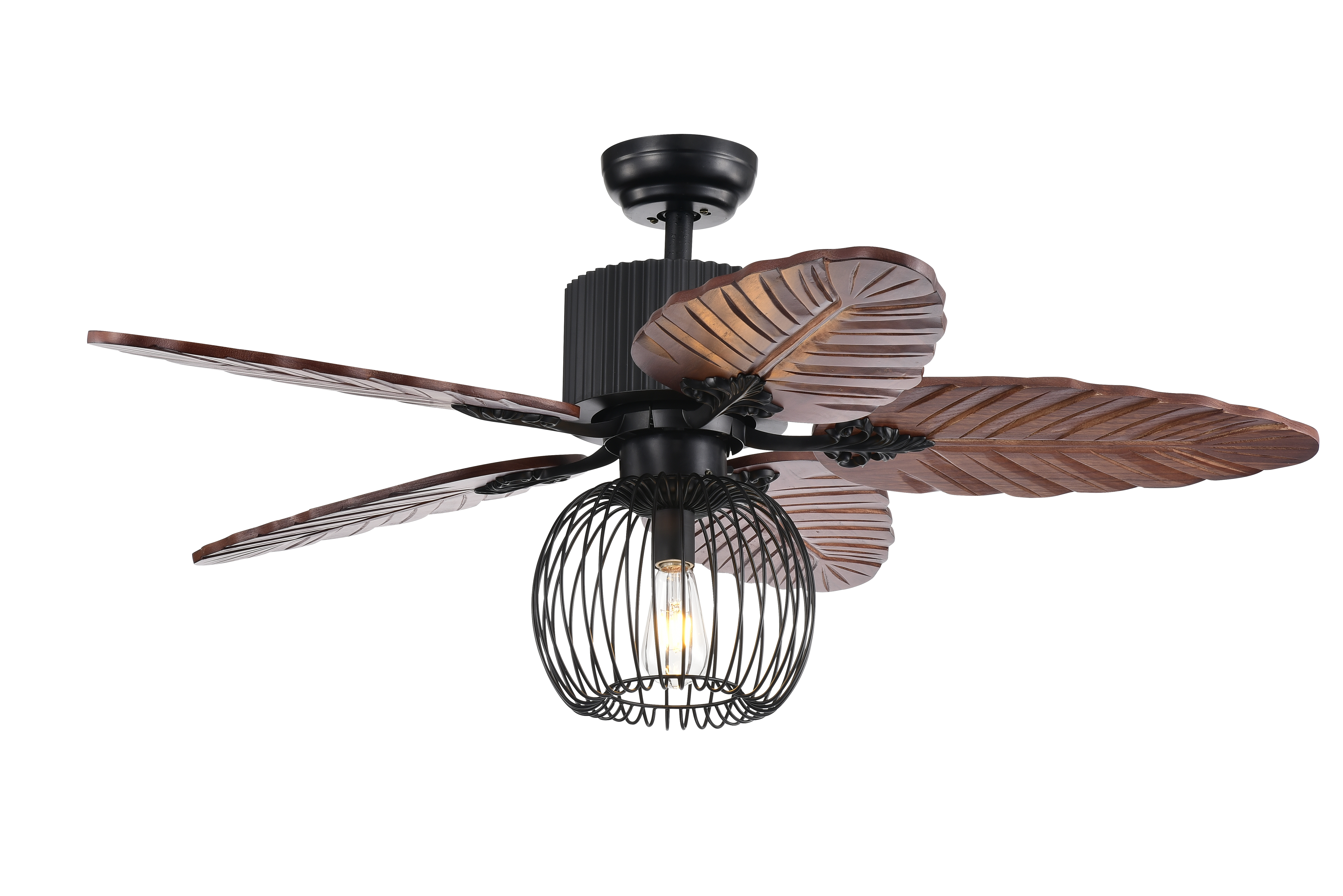 Aguano 48-inch Lighted Ceiling Fan & Broad Leaf Blades (remote controlled)