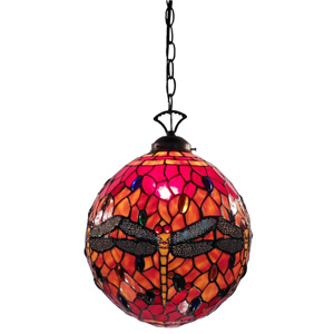 Warehouse of Tiffany Tiffany Style Red Globe Dragonfly Table Lamp at Sears.com