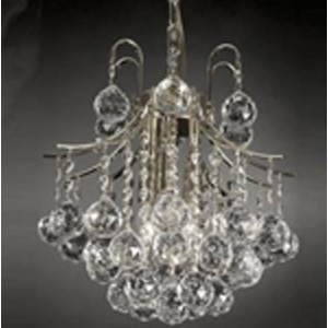Arden Victorian Crystal-Chrome Chandelier