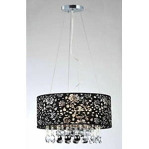 Candace Crystal-Chrome Chandelier