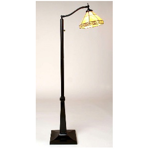 Tiffany-Style Mission Reading Floor Lamp