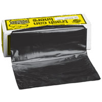 Flex-O-Bag HB55-30 Extra Heavy Duty Trash Can Liner, 55 gal, 56 in L X 36 in W X 3 mil T, Plastic, Black