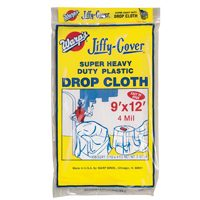 Wrap Brothers 4JC-912 Super Heavy Duty Drop Cloth, 4 mil X 9 ft W X 12 ft L, Clear