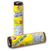 Poly-Cover Coverall 4CH2050-B Waterproof Polyfilm, 4 mil T, 20 ft W x 50 ft L, Black, Plastic