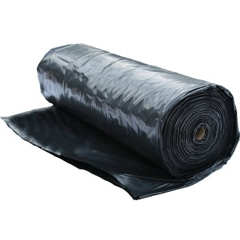 10X100 FOOT 4MIL BLACK POLYETHYLENE
