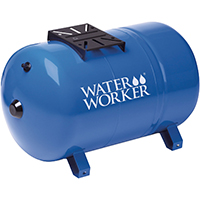 Water Worker HT-20HB Horizontal Pre-Charged Well Tank, 20 gal, 1 in MNPT, 100 psi, Steel
