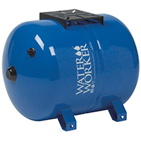 Water Worker HT-14HB Horizontal Pre-Charged Well Tank, 14 gal, 1 in MNPT, 100 psi, Steel
