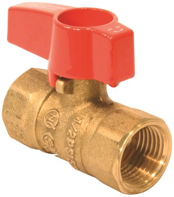 "TEE HANDLE GAS VALVE 1/2"" 5 PSI"