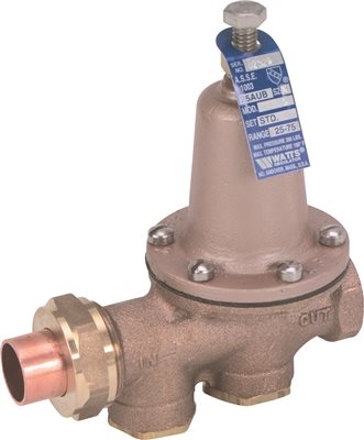 WATER PRESSURE REDUCING VALVE 1 IN SWEAT X 1 IN FIP LEAD FREE