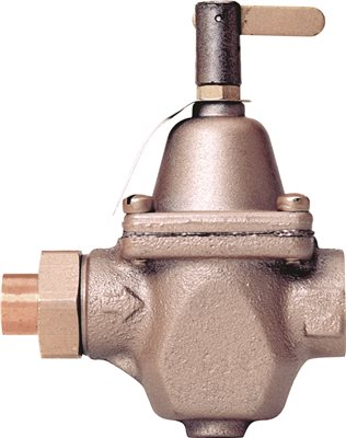 FEED WATER PRESSURE REGULATOR WITH UNION, 1/2 IN. SWEAT