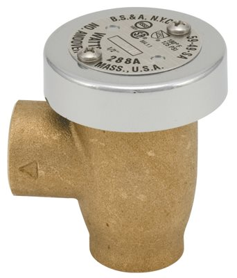 WATTS 288A ANTI-SIPHON VACUUM BREAKER 3/4 IN., BRASS, LEAD FREE