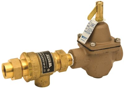 BACKFLOW PREVENTER AND HOT WATER BOILER FILL VALVE 1/2 IN. IPS