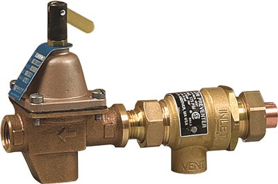 BACKFLOW PREVENTER AND HOT WATER BOILER FILL VALVE, 1/2 IN. SWEAT