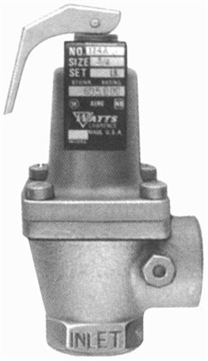 """Watts Water Technologies PRESSURE SAFETY RELIEF VALVE #174A BRONZE BODY 3/4"""" 50 PSI per EA at Sears.com"""