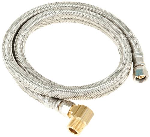 "DISHWASHER CONNECTOR SUPPLY LINE, 3/8"" FIP X 3/8"" COMPRESSION X 48"" LONG WITH ELBOW, STAINLESS STEEL FOR DURAPRO�"