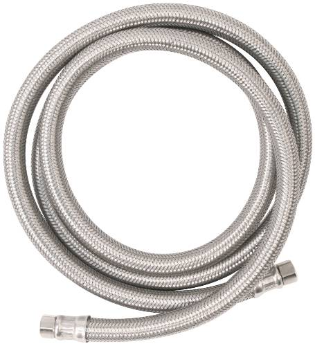 "WATTS� ICE MAKER CONNECTOR SUPPLY LINE, 1/4"" COMPRESSION X 1/4"" COMPRESSION X 60"" LONG, STAINLESS STEEL"