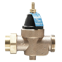 Watts LFN45B Pressure Reducing Valve, 3/4 in, FNPT, 25 - 75 psi, Water Media, Cast Copper Silicon Alloy Body