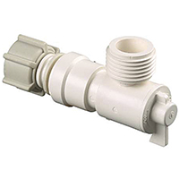 Watts P-682 Quick Connect Garden Hose Angle Valve, 1/2 x 3/4 in, FIP x MGH, 250 psi