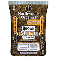 WAUPACA NORTHWOODS WNW03255 Mulch/Seed and Fertilizer, Bag, Brown