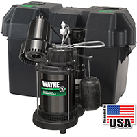 Wayne Pumps WSS20V Pre-Assembled Sump Pump, 3800 gph, 1/3 hp, 120 V, Steel 1-1/2 in FNPT Outlet, 20 ft Maximum Head