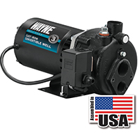 Wayne Pumps CWS75 Convertible Jet Pump, 3/4 hp, 1-1/4 in NPT Inlet, 3/4 in NPT Outlet, 120/240 V, 50 psi Case