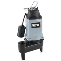 Wayne WCS50T Sewage Pump With Tether Float Switch, 8400 gph, 1/2 hp, 120 V, 1 Phase 2 in NPT Outlet, Cast Iron