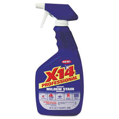 X-14 Mildew Stain Remover, 32oz, Bottle, 12/Carton