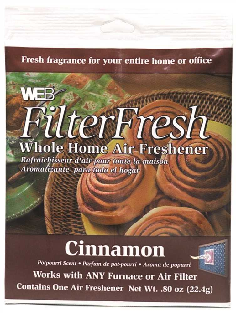 WEB� AIR FILTER FRESHENER, CINNAMON